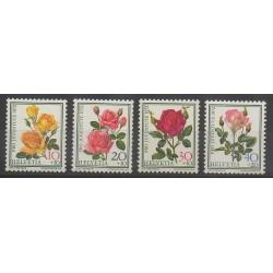 Swiss - 1972 - Nb 914/917 - Roses