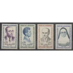 France - Poste - 1961 - Nb 1288/1291 - Celebrities - Second World War