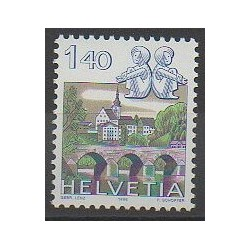 Swiss - 1986 - Nb 1242 - Horoscope - Bridges - Churches