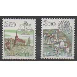 Swiss - 1985 - Nb 1217/1218 - Horoscope - Churches