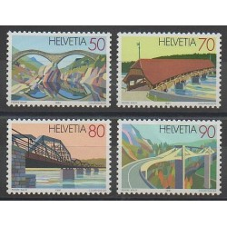 Swiss - 1991 - Nb 1378/1381 - Bridges