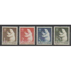 Greenland - 1963 - Nb 49/52 - Mamals - Polar