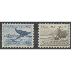 Groenland - 1969 - No 62/63 - Animaux marins - Mammifères