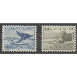 Groenland - 1969 - No 62/63 - Animaux marins - Mammifères