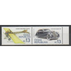 Czech (Republic) - 2015 - Nb 763/764 - Planes - Cars