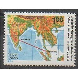 Inde - 1981 - No 695 - Télécommunications