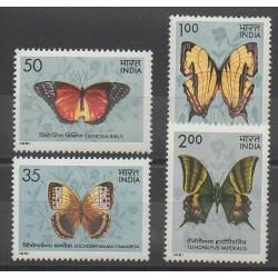 Inde - 1981 - No 682/683 - 685/686 - Insectes