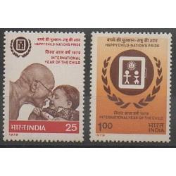 Inde - 1979 - No 579/580 - Enfance