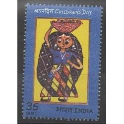 Inde - 1981 - No 689 - Enfance - Dessins d'enfants