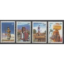India - 1981 - Nb 668/671 - Costumes