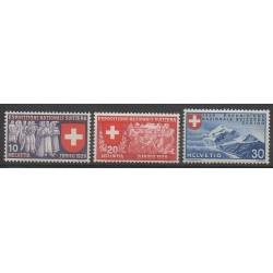 Suisse - 1939 - No 323/325 - Santé ou Croix-Rouge