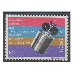 Swiss - 1971 - Nb 877 - Telecommunications