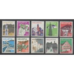 Suisse - 1973 - No 933/942 - Monuments