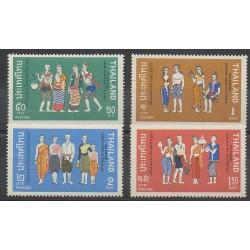 Thailand - 1972 - Nb 595/598 - Costumes