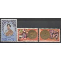 Thaïlande - 1980 - No 921/923 - Monnaies, billets ou médailles
