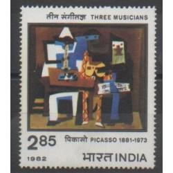 Inde - 1982 - No 703 - Peinture - Musique