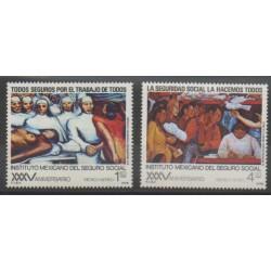 Mexique - 1978 - No PA451/PA452 - Santé ou Croix-Rouge - Peinture
