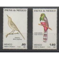 Mexique - 1981 - No 932/933 - Oiseaux