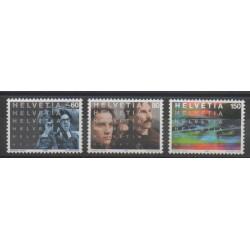 Suisse - 1995 - No 1487/1489 - Cinéma