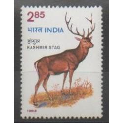 Inde - 1982 - No 726 - Espèces menacées - WWF - Mammifères