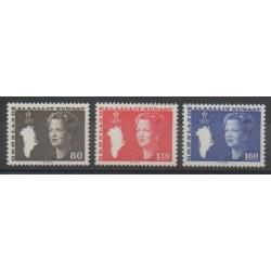 Groenland - 1980 - No 108/110 - Royauté - Principauté