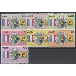 Zaire - 1982 - Nb 1091/1097 - Flags