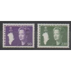 Groenland - 1981 - No 114/115 - Royauté - Principauté