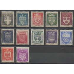 France - Poste - 1942 - No 553/564 - Armoiries