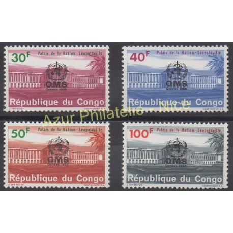 Congo (République démocratique du) - 1966 - No 625/628 - Santé ou croix-rouge