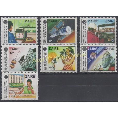 Zaïre - 1984 - No 1154/1160 - Sciences et techniques