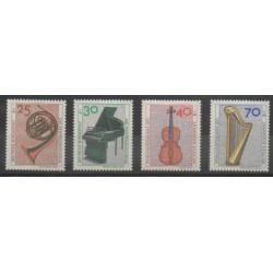 Allemagne occidentale (RFA) - 1973 - No 631/634 - Musique