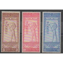 Égypte - 1925 - No 94/96 - Neuf avec charnière