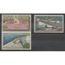 Côte d'Ivoire - 1959 - No PA18/PA20 - Ponts