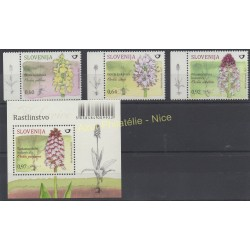 Slovenia - 2015 - Nb 953/957 - BF 79 - orchids