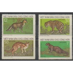 North Vietnam - 1973 - Nb 786/789 - Mamals