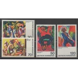Allemagne occidentale (RFA) - 1974 - No 665/666 - 673/674 - Peinture