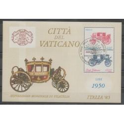Vatican - 1985 - No BF8 - Transports - Exposition - Oblitéré