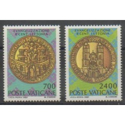 Vatican - 1987 - Nb 809/810 - Coins, Banknotes Or Medals