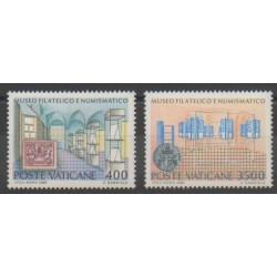 Vatican - 1987 - No 815/816 - Timbres sur timbres - Monnaies, billets ou médailles