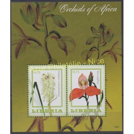 Liberia - 2014 - Nb BF 673 - orchids