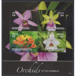 Nevis - 2014 - No 2486/2489 - orchidées