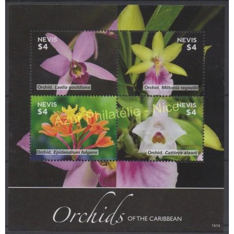 Nevis - 2014 - Nb 2486/2489 - orchids
