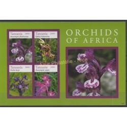 Tanzania - 2014 - Nb 3892/3895 - orchids
