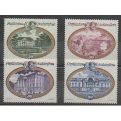 Lienchtentein - 1977 - Nb 621/624 - Monuments