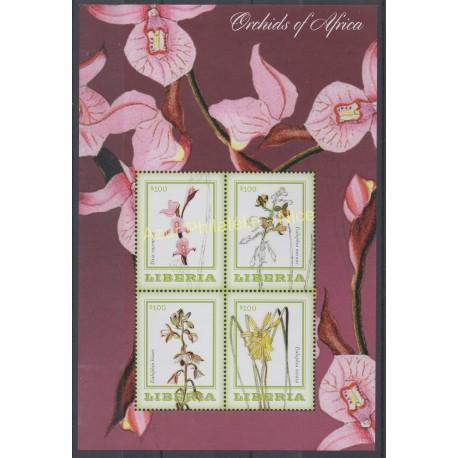 Liberia - 2014 - Nb 5382/5385 - orchids