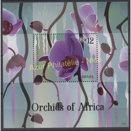 Stamps - Theme orchids - Ghana - 2014 - Nb BF 523