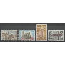 France - Poste - 1972 - No 1712/1713 - 1725/1726 - Églises - Monuments