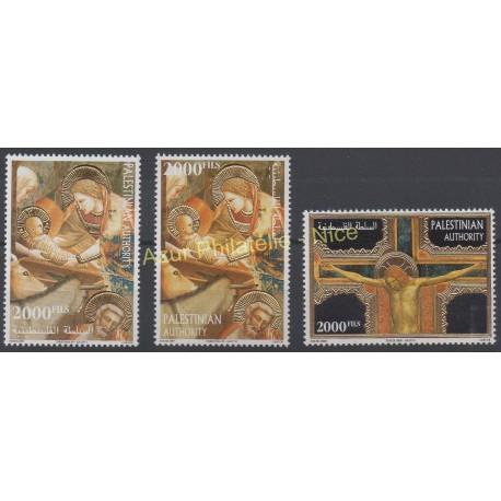 Timbres - Thème Noël - Palestine - 2000 - No 132/134