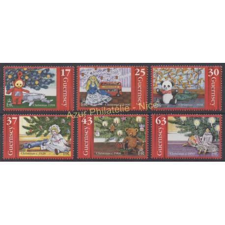 Timbres - Thème Noël - Guernesey - 1998 - No 796/801