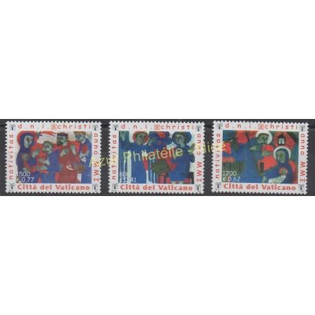 Vatican - 2001 - No 1247/1249 - Noël